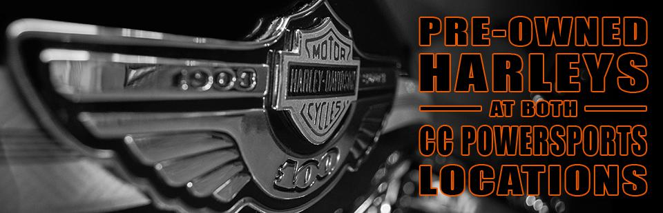 Pre-Owned Harleys Available at Both Locations