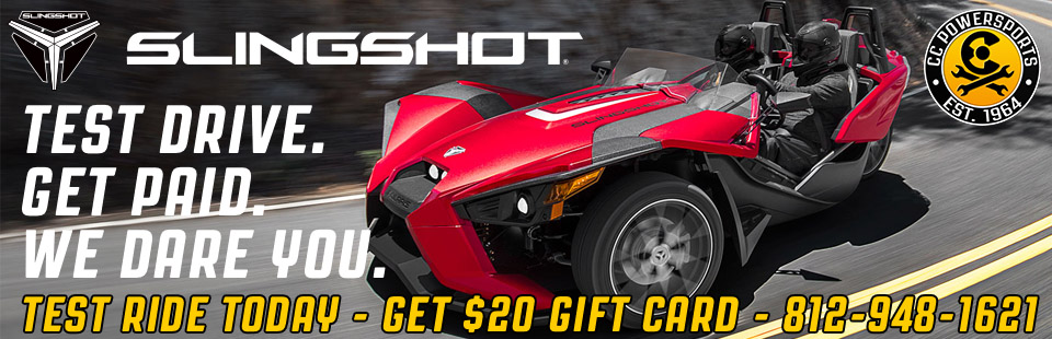 Polaris Slingshot, test ride today and get a $20 gift card!