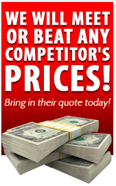 We will meet or beat any competitor's prices!