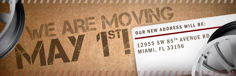 We are moving May 1st!