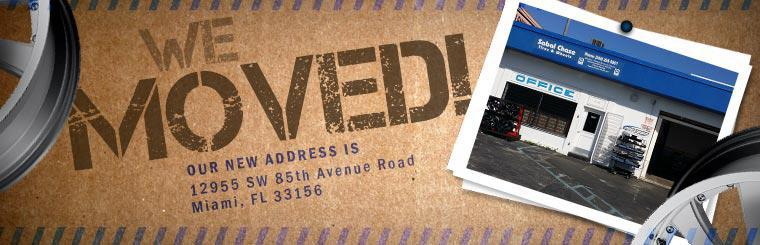 We moved! Our new address is 12955 SW 85th Avenue Road in Miami, FL 33156.