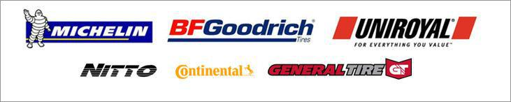 We proudly carry products from Michelin®, BFGoodrich®, Uniroyal®, Nitto, Continental, and General.