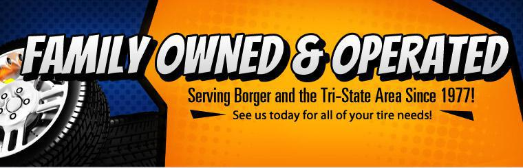Harvey Tire is Family Owned & Operated, serving Borger since 1977!