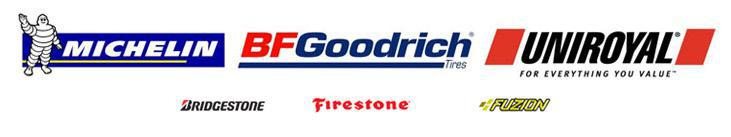 We proudly offer products from Firestone, Fuzion, Michelin®, BFGoodrich®, and 