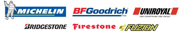 We carry products from Michelin®, BFGoodrich®, Uniroyal®, Bridgestone, Firestone, and Fuzion.