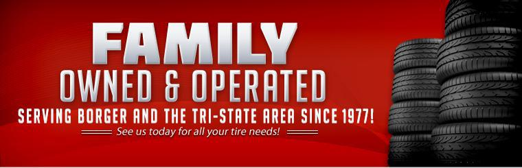 We are family owned and operated, and we have served Borger and the Tri-State Area since 1977! See us today for all your   tire needs!