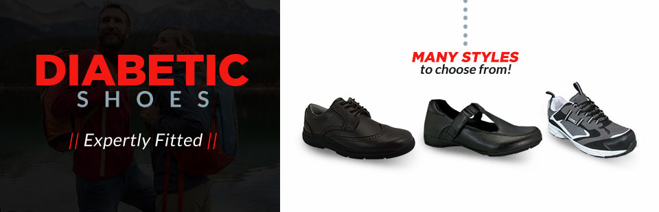Expertly Fitted Diabetic Shoes: We have many styles to choose from, click here for details.