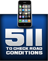 511 to check road conditions.