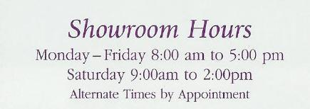 Showroom Hours