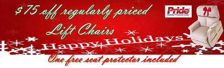 $75 off regularly priced Lift Chairs. One free seat protector included.