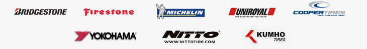 We proudly carry tires from Bridgestone, Firestone, Michelin®, Uniroyal®, Cooper, Yokohama, Nitto, and Kumho.