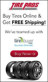 Click here to buy tires online and get Free Shipping! We've teamed up with TireBuyer.
