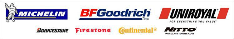 We proudly carry products from Michelin®, BFGoodrich®, Uniroyal®, Bridgestone, Firestone, Continental and Nitto.
