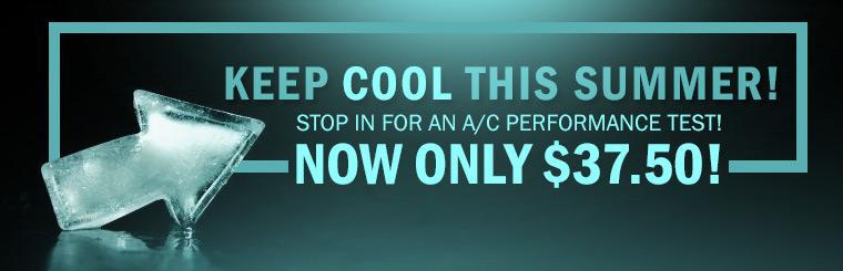 Get an A/C performance test for only $37.50! Click here to print the coupon.