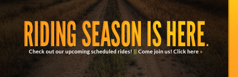 Check out our upcoming scheduled rides!