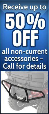 Receive up to 50% off all non-current accessories – Call for details.