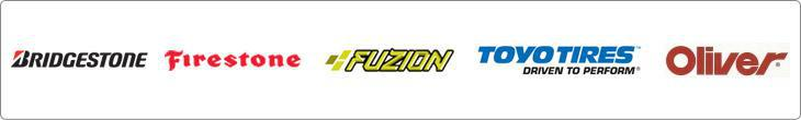 We proudly carry products from Bridgestone, Firestone, Fuzion, Toyo, and Oliver.