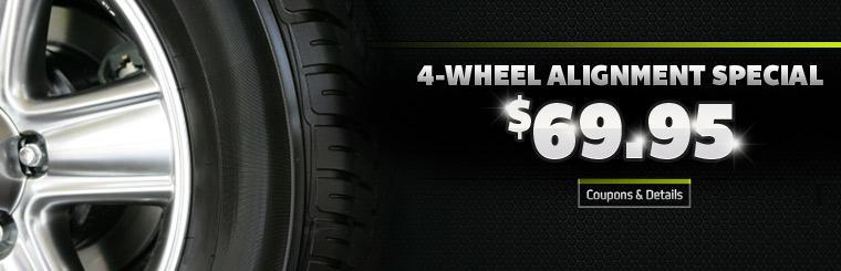 Our 4-Wheel Alignment Special is just $69.95! Click here for details.