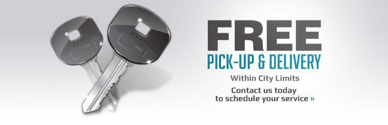 We offer free pick-up & delivery within city limits! Contact us today to schedule your service.