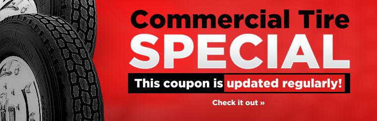 Commercial Tire Special: This coupon is updated regularly!