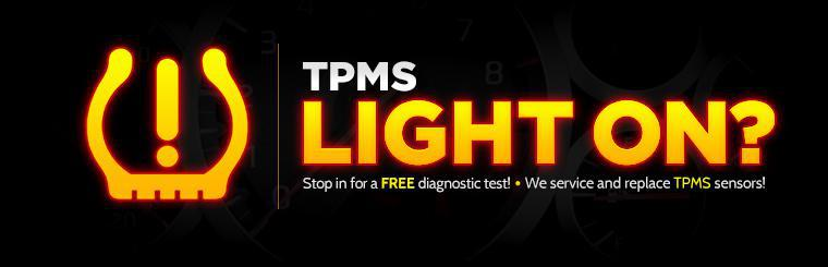 We service and replace TPMS sensors! Stop in for a free diagnostic test!