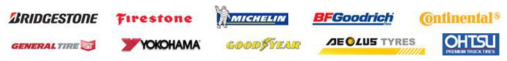 We carry tires from Bridgestone, Firestone, Michelin®, BFGoodrich®, Continental, General, Yokohama, Goodyear, Aeolus, and Ohtsu.