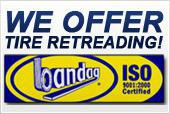 We offer Bandag tire retreading! Click here for more information.
