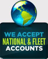 We accept National & Fleet Accounts
