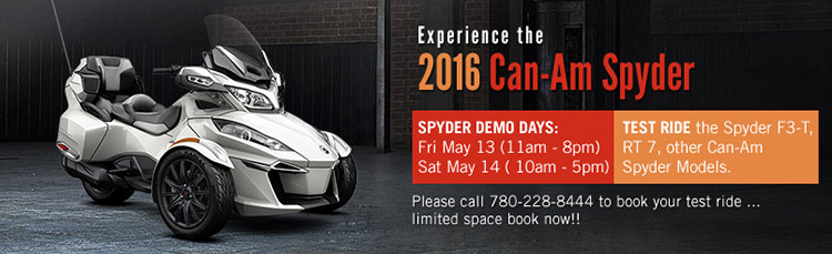 Experience the 2016 Can-Am Spyder
