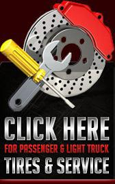 Click here for passenger and light truck tires and service!