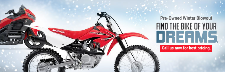 Pre-Owned Winter Blowout: Find the bike of your dreams. Click here to view our selection.