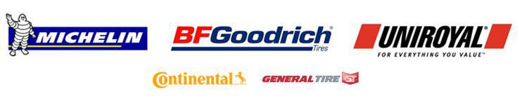 We carry great products from Michelin®, BFGoodrich®, Uniroyal®, Continental, and General.
