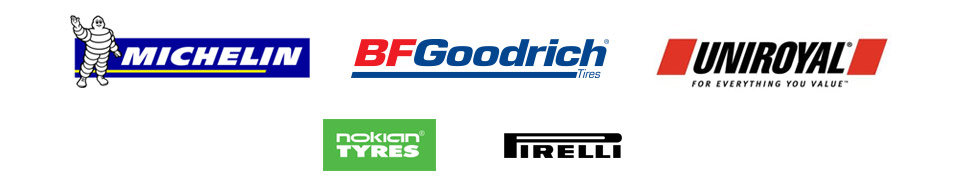 We carry products from Michelin®, BFGoodrich®, Uniroyal®, Nokian, and Pirelli.