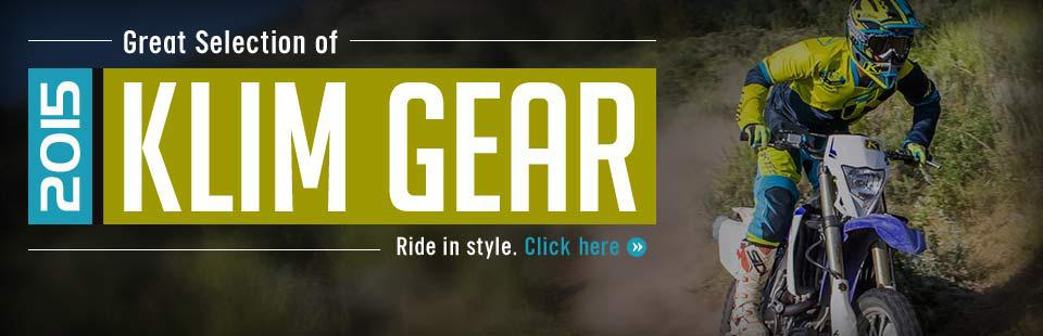 Great Selection of 2015 Klim Gear: Click here to browse online.