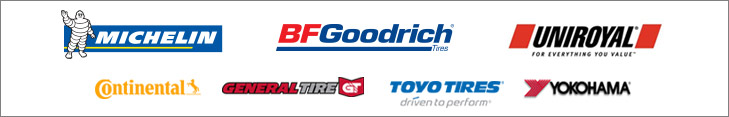 We proudly carry products from Continental, General, Michelin®, BFGoodrich®, Uniroyal®, Toyo, and Yokohama.