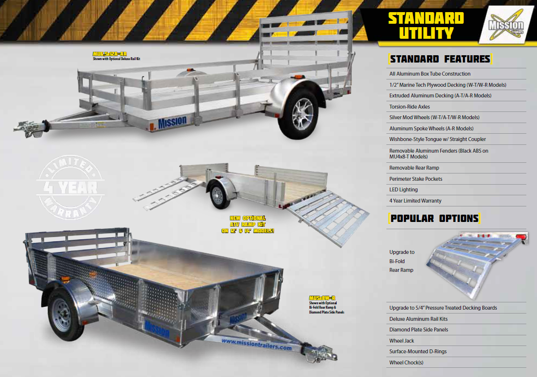 Mission Trailer Standard Utility for sale in Metcalfe, ON