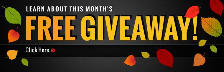 Click here to learn about this month's free giveaway!