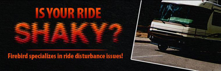 Is your ride feeling shaky? We specialize in diagnosing and fixing ride disturbance issues! Click here for more information.