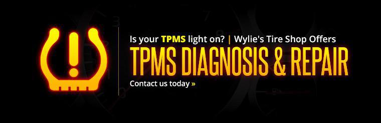 Wylie's Tire Shop offers TPMS diagnosis and repair. Contact us today for details.