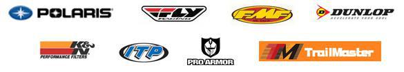 We carry products from Polaris, Fox Racing, Fly Racing, FMF, Dunlop, K&N, ITP, Shift, ProArmor and TrailMaster.