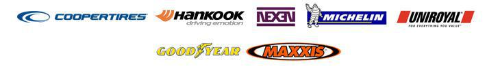 We carry products from Cooper, Hankook, Nexen, Michelin®, Uniroyal®, Goodyear, and Maxxis.