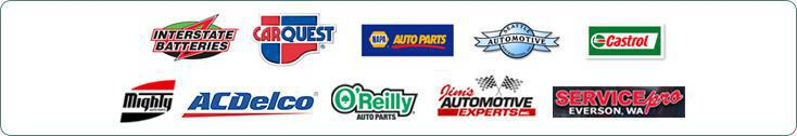 We are proud to offer products from Interstate Batteries, CARQUEST, NAPA Auto Parts, Seattle Automotive, Castrol, Mighty, ACDelco, O'Reilly, Jim's Automotive, and Service Pro.