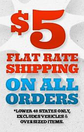 FLAT 5.00 SHIPPING on all orders