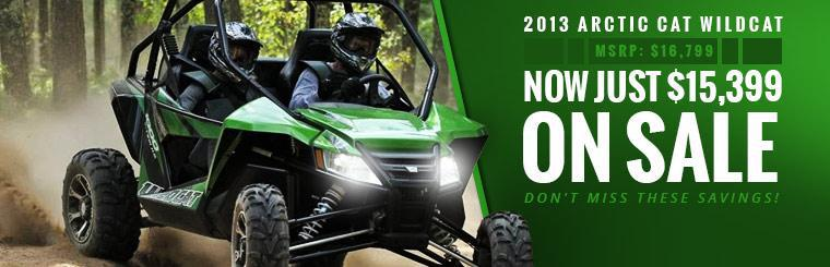 2013 Arctic Cat Wildcat is on sale for just $15,399. Click here to check it out.
