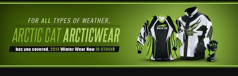 2014 Arctic Cat Winter Wear In Stock