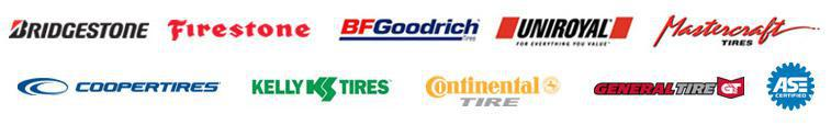We are proud to carry products from BFGoodrich®, Uniroyal®, Bridgestone, Firestone, Mastercraft, Cooper, Kelly, Continental and General! We are ASE certified!