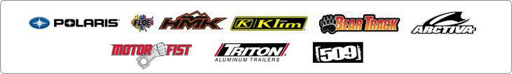We carry products from Polaris, Floe, HMK, Klim, BearTrack, Arctiva, MotorFist, Triton, and 509.
