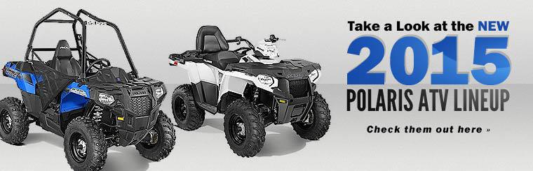 Take a look at the new 2015 Polaris ATV lineup!