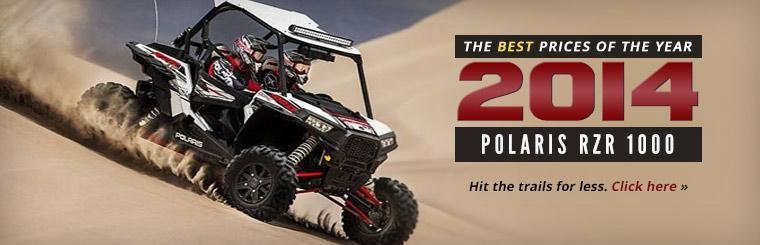 Hit the trails for less on the 2014 Polaris RZR 1000!