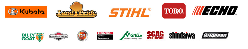 We carry products from Kubota, Land Pride, STIHL, Toro, ECHO, Billy Goat, Briggs & Stratton, DR, Honda Power Equipment, Mantis, Scag Power Equipment, Shindaiwa, and Snapper.